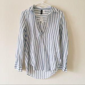 Blue & White Strip Shirt